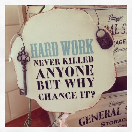 over 50% OFF Hard Work Never Killed Anyone Metal Vintage Sign